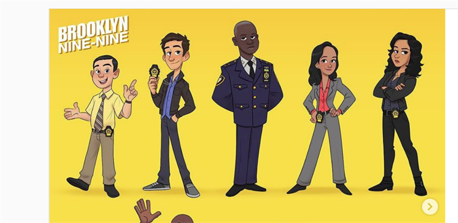 """Atores de """"Brooklyn Nine-Nine"""" recebem ilustrações de seus personagens"""